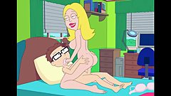 American Dad: Francine Fucks Steve in His Bedroom