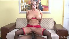Natural busty mom drilled raw by huge black cock cum on her nasty face