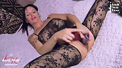 Angie Noir Two Dildos Stretch Out Mommy's Pussy and Make her Cum DVP