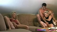 Mom and her twin sister wanted to fuck my cock!