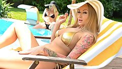 Blonde Babes Victoria Summers & Kayla Green Poolside Pussy Licking