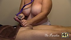 Big Tit Nurse Topless Handjob - Cock is Medically Milked by Big Boob Nurse
