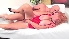 sexy GILF redhead Jackie Babe gets fucked by a big dick