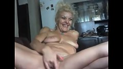 62 years old Emma masturbates for webcam