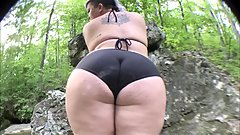 Totally Safe For Work - Padma Bikini Creekbed Video Photoshoot - SEXY ASS!