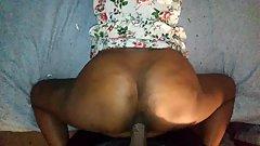 Juicy Ebony Booty tease and run from BBC, POV