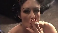 Girl smoking dangling her cigarette so professionally
