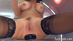 Busty toy loving MILF squirting