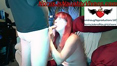Redhead Grandma Sammantha Sweet sucks my dick then I fuck her good & silly