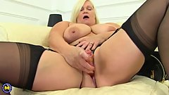 British big breasted housewife Lacey playing with herself