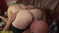 sexy granny gets rough banged by grandpa