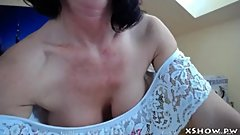 Amateur Gorgeous Mommy Flashing On Web Cam