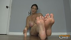 Super Kinky MILF Charlee Chase Shows Off Her Feet While Teaching JOI!