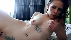 Horny redhead uses her vibrator when boyfriend is not home