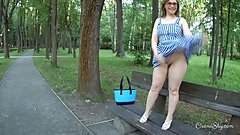 PAWG's naughty stroll
