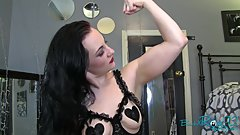 Fit MILF Flexes In Lingerie