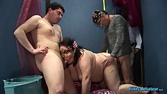 Real orgy with Daughter and mom BBW! And with other fat whores