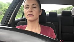 Baby Bella - Driving & Shopping Horny Secretly Films Herself Cum In Public