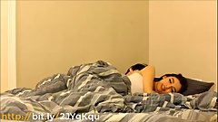 StepBrother seduces his sleepy sister while sleeping in bedroom taboo