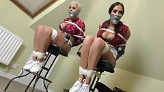 two buxom girls in bondage