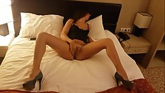 Russian high heels sexwife sucked and fucked by husband's friend at hotel