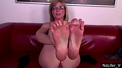 Nina Hartley brief foot tease