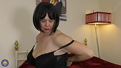British curvy lady Jane playing with herself