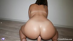 Big Ass Fucking Dildo and Cum - Cristall Gloss