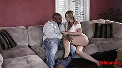 Blonde MILF Rachel Cavalli Gets Fucked On Couch