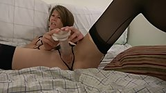 Hot boobs MILF plays with fun parts!