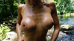 Natalia Aleksei Outdoor Slow Motion Sensual Oil Rub